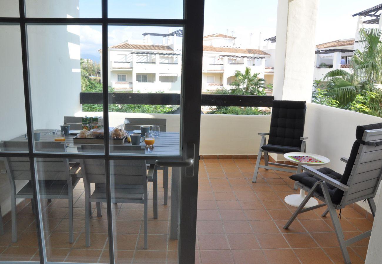 Zapholiday – 2201 – Location appartement Manilva - terrasse