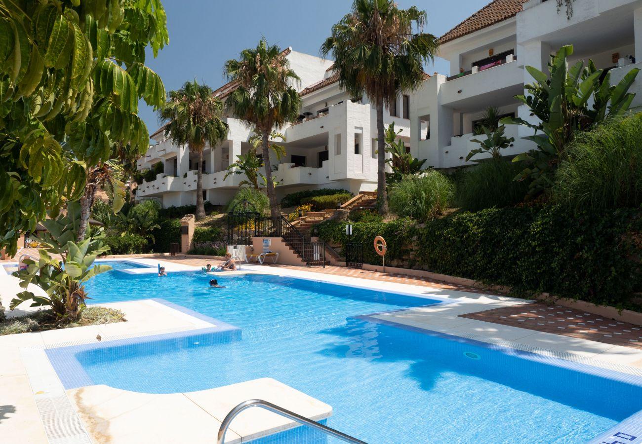 Zapholiday – 2290 - location appartement la Duquesa  , Costa del Sol – piscine